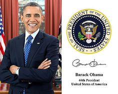 Barack Obama: President Barack Obama Presidential Seal Autograph 8 X 10 Photo Photograph -> BUY IT NOW ONLY: $5.99 on eBay!