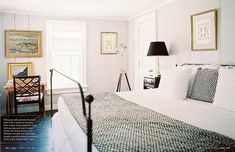 David Flint Wood / India Hicks / Patrick Cline / Lonny {black and white classic modern bedroom} by recent settlers, via Flickr