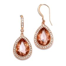 These Mariell pear shaped drop earrings are the perfect size for a wedding, and they come in tons of colors!