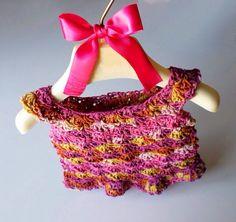 Vestitino neonato uncinetto vestito cotone gonna bambina rosa giallo estivo prendisole idea regalo baby shower gift taglia 0 3 mesi colorato on Etsy, €45,00