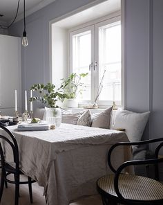 Elegant home in blue-grey - via Coco Lapine Design blog