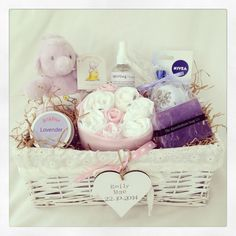 Personalised Humphrey's corner themed hamper in pink option, baby gift, mum and baby gift, mum and baby hamper, personalised babyshower hamper, personalised babyshower gift, basket, fast uk delivery