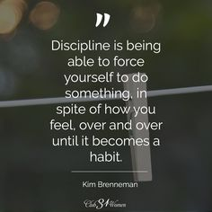 Commitment is discipline. For me, cleaning the house takes discipline. Quotable Quotes, Wisdom Quotes, Quotes To Live By, Me Quotes, Motivational Quotes, Inspirational Quotes, Habit Quotes, Qoutes, The Words