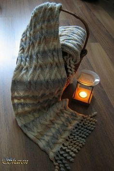 Free Pattern: Cabled Twirl Wrap by Barry Klein