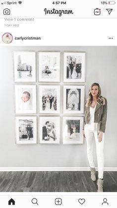 Fascinating Wall Gallery Ideas You Can Steal - A gallery wall can instantly elevate the style of any space in any room in your home. Gallery walls vary greatly, depending on the décor and taste of . Interior Design Living Room Warm, Living Room Designs, Living Room Decor, Living Room Gallery Wall, Living Room Picture Ideas, Interior Colors, Interior Livingroom, Kitchen Interior, Photowall Ideas