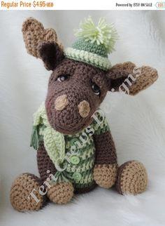 SALE Moose Crochet Pattern Instant Download PDF von TCrewsDesigns
