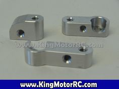 CNC Aluminum Roll Cage Support Mounts (silver)