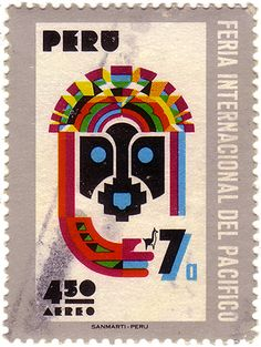 furtho:    Postage stamp commemorating Peru's hosting of the 1971 International Pacific Fair.