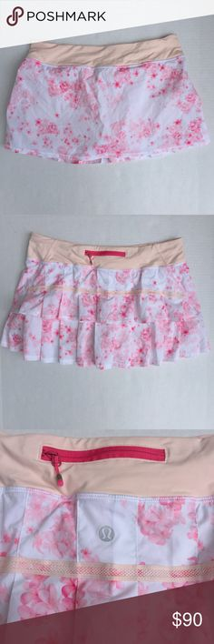 Lululemon Run Pace Skirt Frangipani Parfait Pink Lululemon Run Pace Setter Skirt Frangipani Parfait Pink - Regular - Like New lululemon athletica Skirts