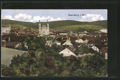 old postcard: AK Sternberg, Gesamtansicht 1910