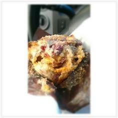 I was blessed this morning with this Raspberry White Choccolate Muffin via @evelynskitchen #nom #muffinporn #foodie #breakfast #appreciation #gratitude #yummy #foodporn #bakedgoods #igers #igersnyc #igersny #teamek #newyork #nyc #instagram #instafav #instagramhub#love #instamood - @divakattgoddess- #webstagram