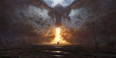 Dragon's Breath, Grzegorz Rutkowski on ArtStation at https://www.artstation.com/artwork/g9qwQ