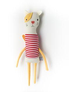 Plush Kitty Friend- Finkelstein's Center Handmade Creature