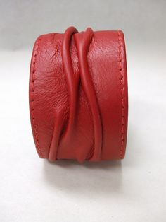 Textured Leather Cuff Bracelet by UCAO on Etsy, $35.00