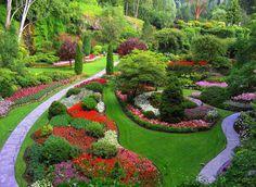 Buchart Gardens One of the most beautiful gardens I've ever seen! Backyard Garden Design, Diy Garden, Garden Landscape Design, Dream Garden, Garden Paths, Backyard Landscaping, Landscaping Ideas, Landscape Designs, Landscaping Company