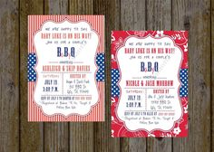 Baby Q Shower Invitation  Couples Shower by SharingAPassionINC, $10.40