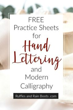 to Get Started with Hand Lettering This has SO MANY free practice sheets for all styles of hand lettering. Love it - and it's FREE!This has SO MANY free practice sheets for all styles of hand lettering. Love it - and it's FREE! Hand Lettering 101, Hand Lettering For Beginners, Calligraphy For Beginners, Hand Lettering Tutorial, Hand Lettering Practice, Hand Lettering Alphabet, Creative Lettering, Brush Lettering, Calligraphy Practice Sheets Free