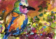 For the love of #Birds Painting by Ginette