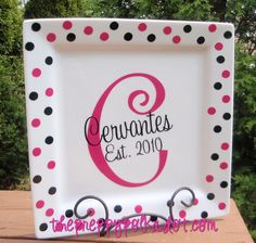 Personalized Anniversary Name Plate-