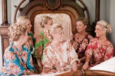 Real life Sample 2 - Bridesmaids Robes made From C10 Fabric Pattern