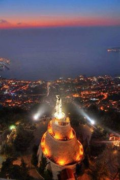 The Lady of Lebanon, Notre Dame du Liban, 17 kilometers from Beirut ... Beautiful World, Beautiful Places, Beautiful Pictures, Beirut Lebanon, North Africa, Our Lady, Nature Pictures, Wonders Of The World, Places To See