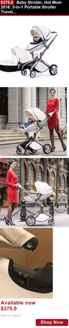 Strollers: Baby Stroller, Hot Mom 2016: 3-In-1 Portable Stroller Travel System BUY IT NOW ONLY: $375.0
