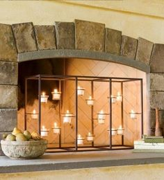 Creative candle holder for fireplace design ideas