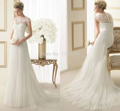 vestido de noiva renda casamento 2015 cheap Sweetheart vintage Wedding Dress bride sexy lace cap sleeve New Arrival Handmade