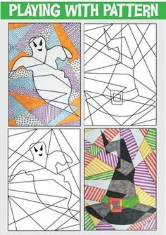 Halloween Art Activities 40 page bumper pack with cards and templates
