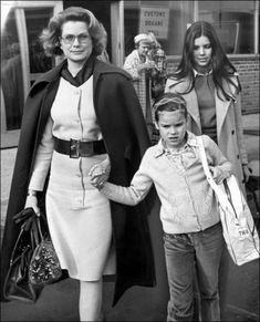 La Princesse Stéphanie De Monaco en 1973, aux Etats-Unis avec Grace et Caroline