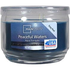 Mainstays Jar Candle in Peaceful Waters or Island Party