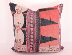I love this vintage kantha quilt pillow cover.  It has such a wonderful worn quality, great color, pattern, and texture.  It's modern, ethnic, and vintage all at the same time!