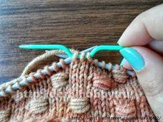 Punto entrelazado tejido a dos agujas - Paso a paso en fotos