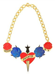 """MARIA FRANCESCA PEPE - """"NEVER IS A PROMISE"""" NECKLACE - LUISAVIAROMA - LUXURY SHOPPING WORLDWIDE SHIPPING - FLORENCE"""