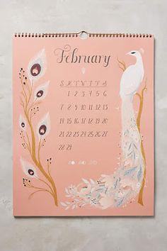 2016 Calendar  #anthrofave