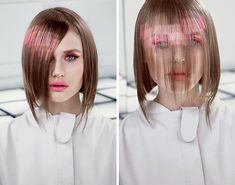 Pixelated hair is the new Ombre, and we're into it..... I kind of love this! -- ADC