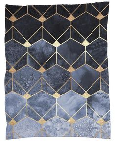 Blue Hexagons and Diamonds en Plaid par Elisabeth Fredriksson Bedroom Wall Designs, Bedroom Wall Colors, Wall Colours, Geometry, Plaid, Rugs, Hexagons, Blue, Homes