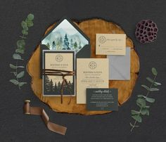 Pretty Winter Wedding Invitation Ideas for Your Special Day - The invitation is pretty much important in celebrating a wedding day. These are the winter wedding invitation ideas you can adopt for your wedding day. Mountain Wedding Invitations, Rustic Invitations, Floral Wedding Invitations, Invites, Wedding Stationary, Laser Cut Invitation, Invitation Set, Watercolor Invitations, Wedding Planning