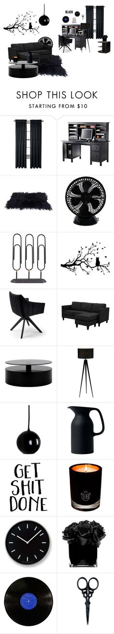 """""""A Bit Black ;)"""" by misssarcasticx666 ❤ liked on Polyvore featuring interior, interiors, interior design, home, home decor, interior decorating, Royal Velvet, Keystone, Dot & Bo and Royal Doulton"""