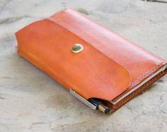 Full grain veg tanned leather bag by TheModernGift on Etsy