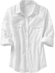 I love button up shirts. A good white one is perfect for summer