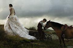 Amazing horses in Arizona   Amazing Fashion Image From Vogue Magazine Collection 'War Horses'