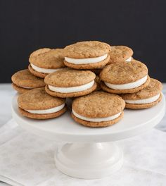 Ginger-Spice Sandwich Cookies with Lemon Cream Cheese Filling by Tracey's Culinary Adventures