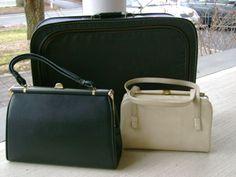 Vintage luggage & purses