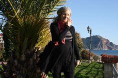 Lakki ja tunika Citymarket, neule Vero Moda, legginsit Gina tricot, huivi joku turkkilainen kauppa