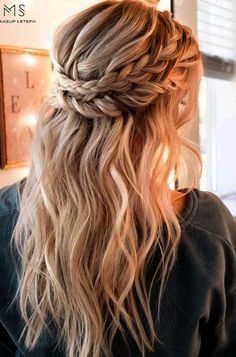Everyday Cute Hairstyles for Long Hair  See more: Fancy Hairstyles, Wedding Hairstyles, Dreadlocks, Long Hair Styles, Beauty, Fashion, Wedding Hairsyles, Beleza, Moda