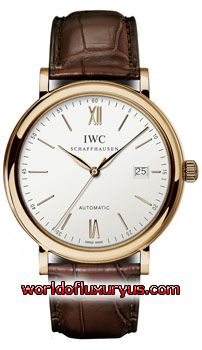 This IWC Portofino Mens Watch features 40mm rose gold case and ivory dial w/ gold hand & index hour marker, sapphire crystal, and a brown leather croco strap with deployment buckle. - See more at: http://www.worldofluxuryus.com/watches/IWC/Portofino/IW356504/185_209_4365.php#sthash.XpaXSSqs.dpuf