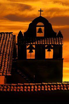 Bell Tower - La Purissima Mission State Historic Park, in Lompoc, California Lompoc California, California Love, California Dreamin', Northern California, Pacific Coast Highway, Big Sur, Newport Beach, Santa Monica, California Missions