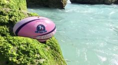 custom designed rugby ball for URugby's 2017 Ariel Re Bermuda 7s tournament