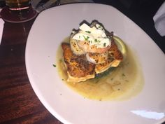 Crispy Atlantic Salmon & Scallops we had @ Pappadeaux Seafood Kitchen in Arlington, TX.  WAS SOO GOOD